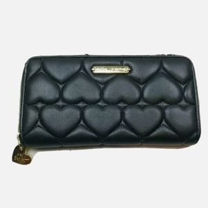 Betsey Johnson Black Quilted Puffer Wallet *See pi